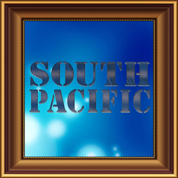 South Pacific set, scenery, props and backcloths for hire. Backdrops for hire.