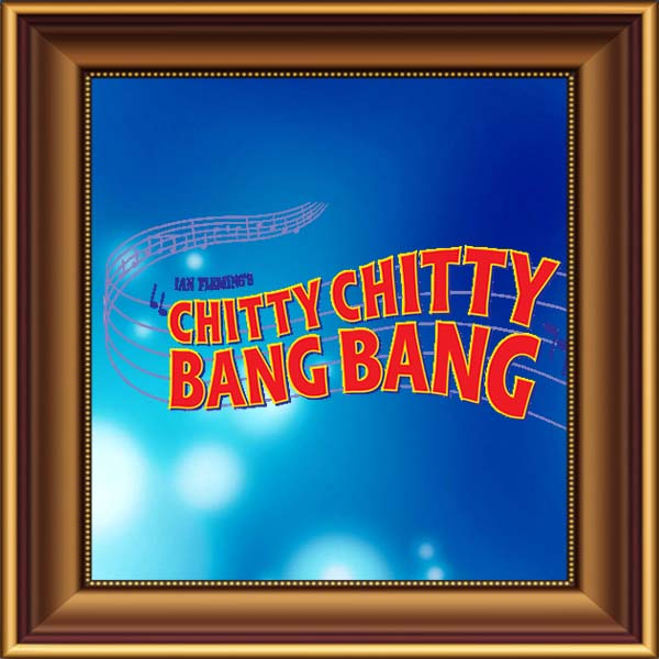 Chitty Chitty Bang Bang set, scenery, props and backcloths for hire. Backdrops for hire. Chitty Chitty Bang Bang car for hire.