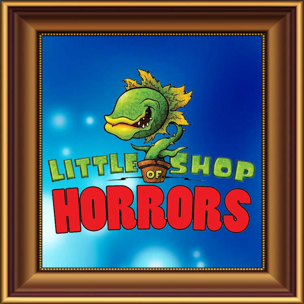 Little Shop of Horrors set, scenery, props and backcloths for hire. Backdrops for hire. Audrey II puppets for hire.